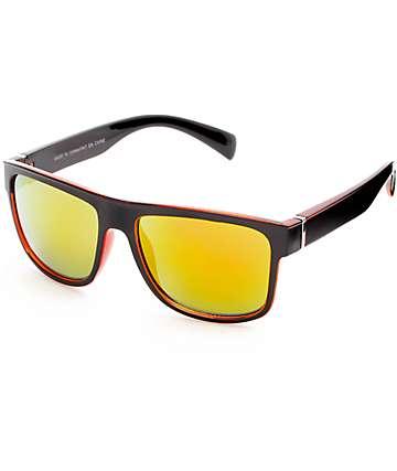 Black & Red Flat Top Sunglasses