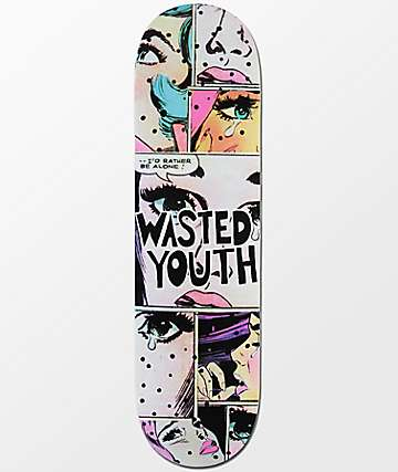 "Blackout Wasted Youth Alone 8.5"" Skateboard Deck"