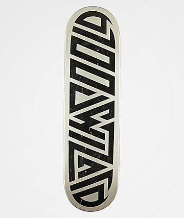 "Blood Wizard Logo Silver & Black 8.5"" Skateboard Deck"