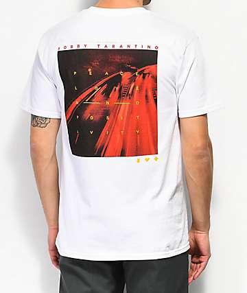 Bobby Tarantino by Logic Peace Love Positivity White T-Shirt