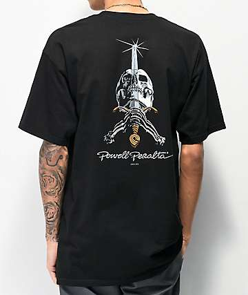 Bones Powell Peralta Skull & Sword Black T-Shirt