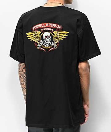 Bones Powell Peralta Winged Ripper camiseta negra