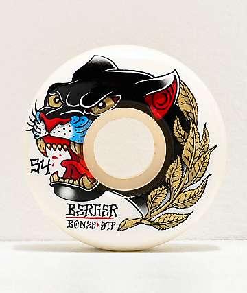 Bones STF V3 Slims Berger Panther 54mm 103a White Skateboard Wheels