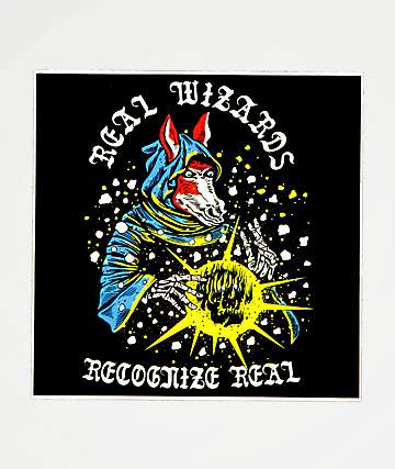 Boss Dog Real Wizards Sticker