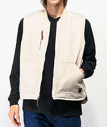 Brixton Abraham White Reversible Vest