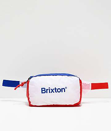 Brixton Barrier Red, White & Navy Fanny Pack