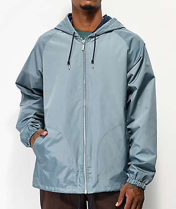 Brixton Claxton Blue Hooded Jacket