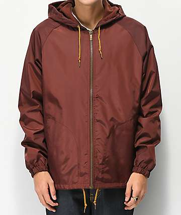Brixton Claxton Chestnut Red Windbreaker Jacket