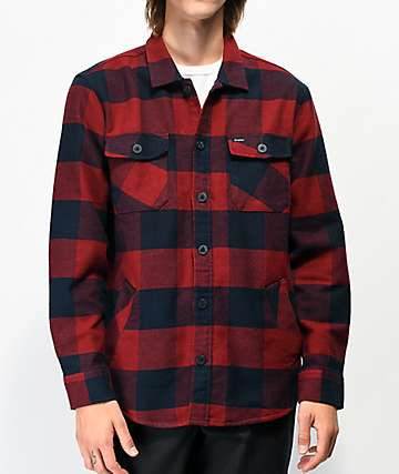Brixton Durham Red & Navy Flannel Shirt