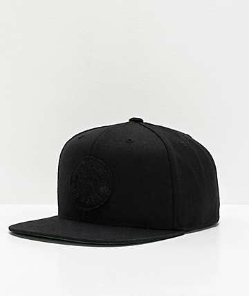 Brixton Forte Black Snapback Hat