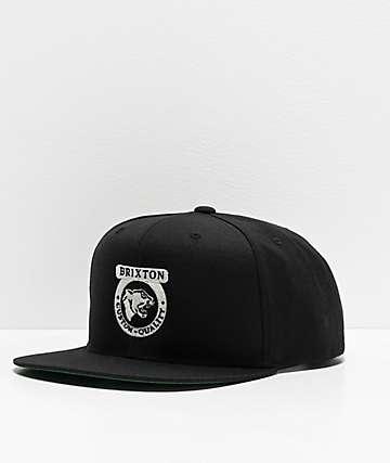 Brixton Forte II Black Snapback Hat