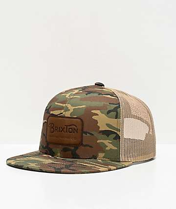 Brixton Grade Woodland Camo Trucker Hat