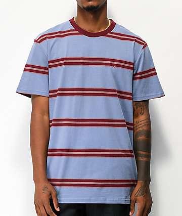 Brixton Hilt Blue Stripe Knit T-Shirt