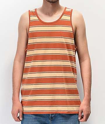 Brixton Hilt Henna & Parchment camiseta sin mangas de rayas