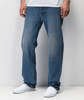 Brixton Labor Light Blue Faded Jeans