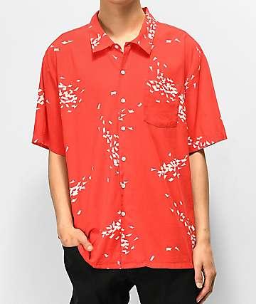 Brixton Lovitz camisa de manga corta roja y blanca