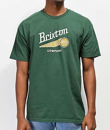 Brixton Maverick Green T-Shirt