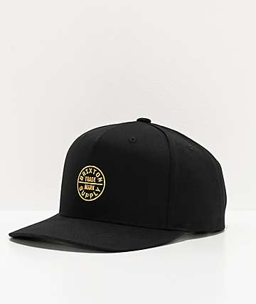Brixton Oath 110 MP Black Snapback Hat
