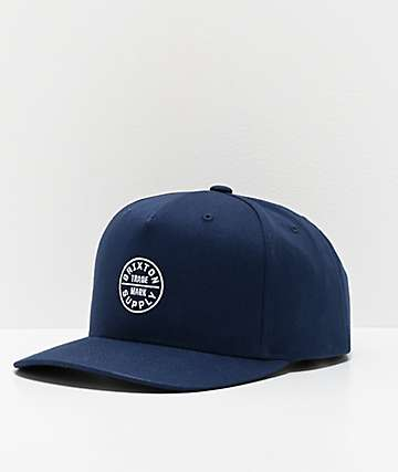 Brixton Oath 110 MP Navy Snapback Hat