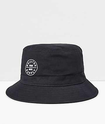 Brixton Oath Black Bucket Hat