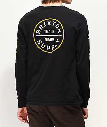 Brixton Oath Black Long Sleeve T-Shirt