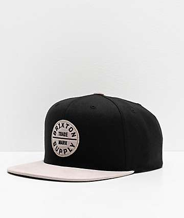 Brixton Oath III Black & Vanilla Snapback Hat
