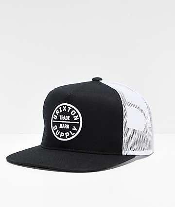 Brixton Oath III Black & White Trucker Hat