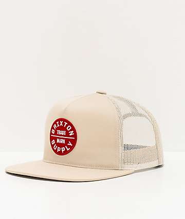 Brixton Oath III Vanilla Trucker Hat