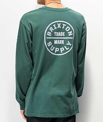 Brixton Oath IV Emerald Long Sleeve T-Shirt