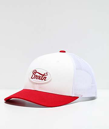 Brixton Parsons Red & White Trucker Hat