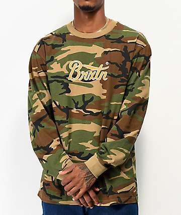 Brixton Sith VI Wood Camo Long Sleeve T-Shirt