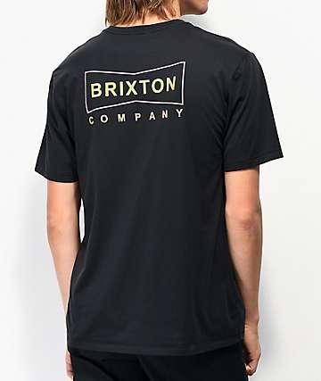 Brixton Wedge Washed Black T-Shirt