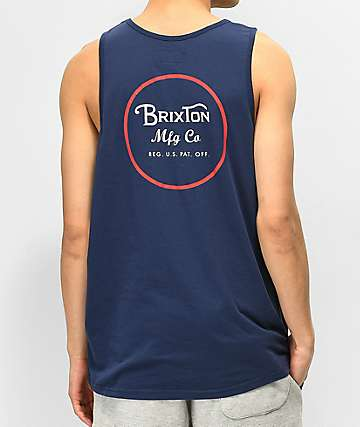 Brixton Wheeler Navy Tank Top