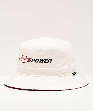 Brixton x Chevy Backyard White Bucket Hat