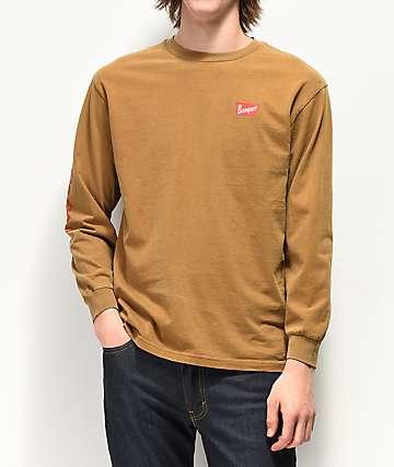 Brixton x Coors Banquet Brown Long Sleeve T-Shirt
