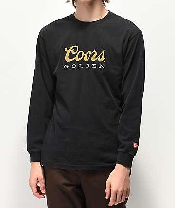 Brixton x Coors Banquet Golden Black Long Sleeve T-Shirt