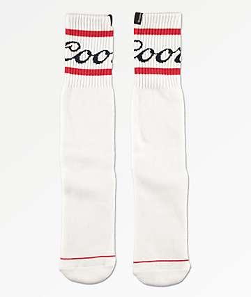 Brixton x Coors Signature White Crew Socks