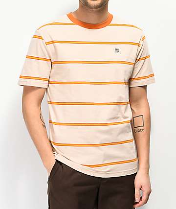 Brixton x Independent Deputy camiseta naranja y dorada