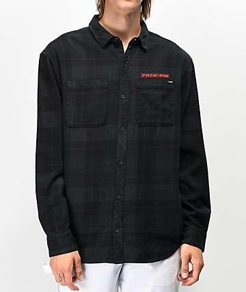 Broken Promises Bar Logo camisa de franela negra