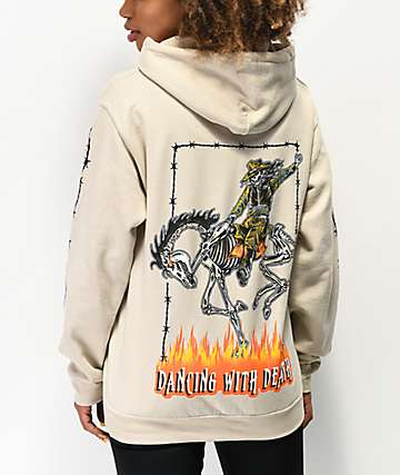 Broken Promises Coffin Head Sand Tan Hoodie