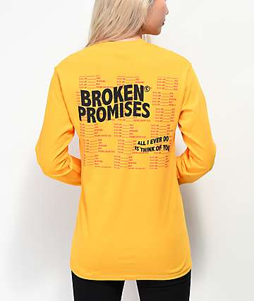 Broken Promises Daily Ritual Gold Long Sleeve T-Shirt