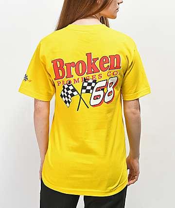 Broken Promises Don't Gas Me Up Yellow T-Shirt