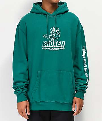 Broken Promises Evermore Dark Teal Hoodie