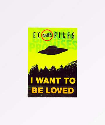 Broken Promises Ex Files Sticker