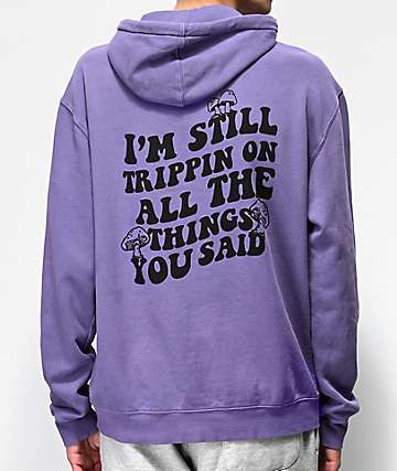 Broken Promises Far Out Purple Hoodie
