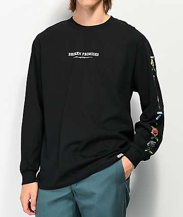 Broken Promises Feeled Guide Black Long Sleeve T-Shirt
