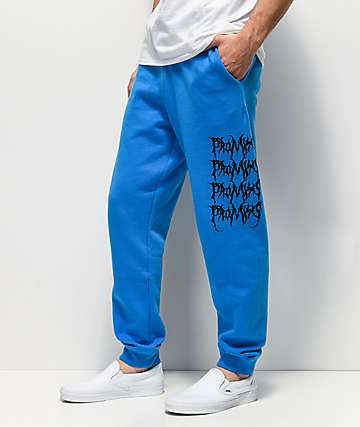 Broken Promises Graveyard Blue Sweatpants