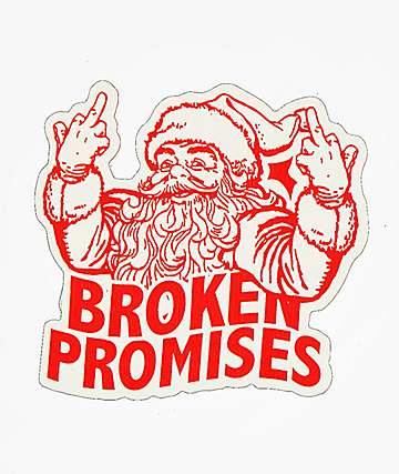 Broken Promises Krumpus Sticker