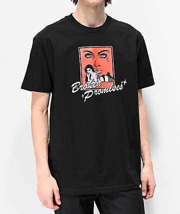 Broken Promises Lucy Black T-Shirt