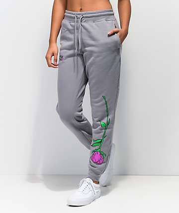 Broken Promises Misery Grey Jogger Sweatpants